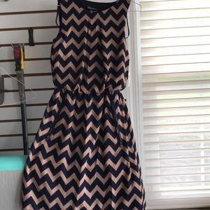 Missy dress chevron print